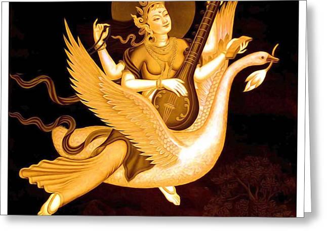 Saraswati 4 Greeting Card by Lanjee Chee