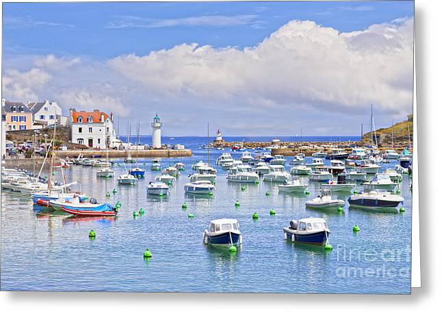 Belles Greeting Cards -  Sauzon Belle-Ile Brittany France Greeting Card by Colin and Linda McKie