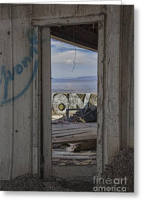 California Beach Art Greeting Cards -  Sea Door Greeting Card by Keith Ducker