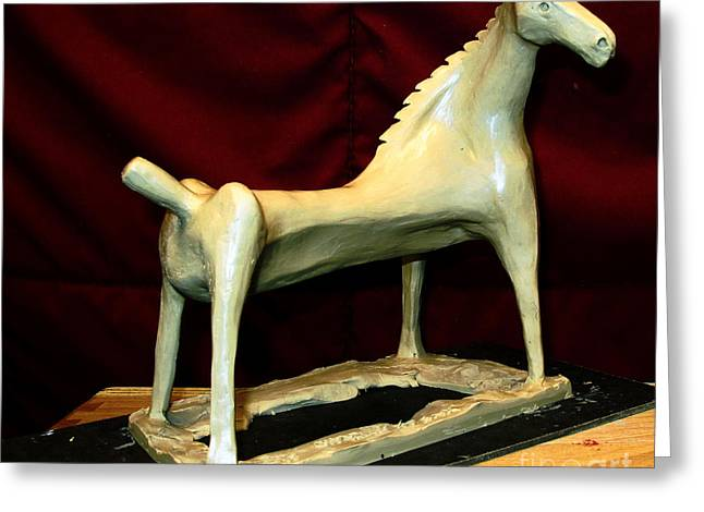 Model Sculptures Greeting Cards -  SEA MARE work in progress  Greeting Card by Charlie Spear