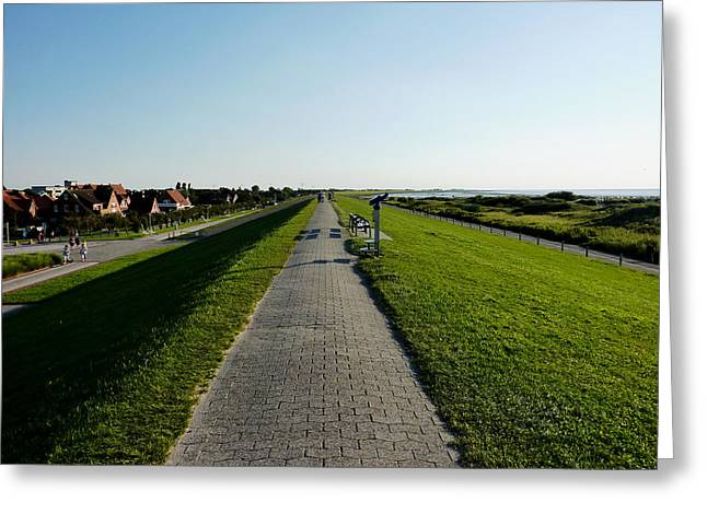 North Sea Greeting Cards -  Seaside Walking Path Greeting Card by Mountain Dreams