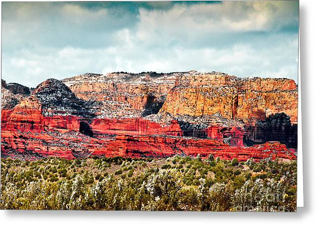 Monolith Digital Greeting Cards -  Secret Mountain Wilderness Sedona Arizona Greeting Card by  Bob and Nadine Johnston