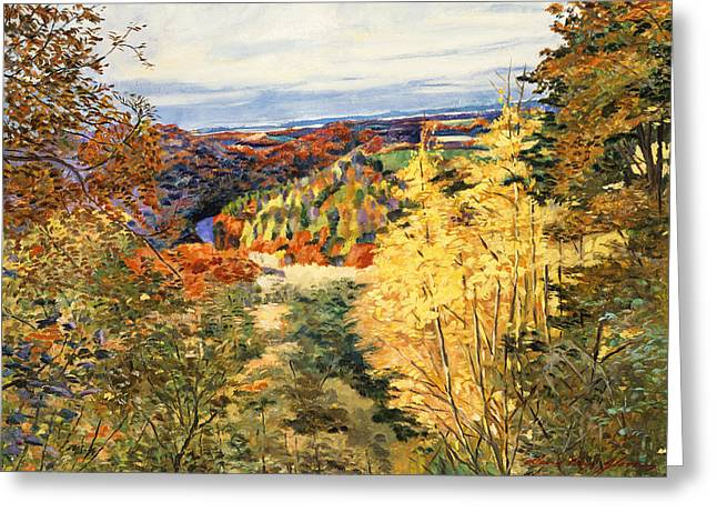 Autumn Landscape Paintings Greeting Cards -  September In Bordeaux Greeting Card by David Lloyd Glover