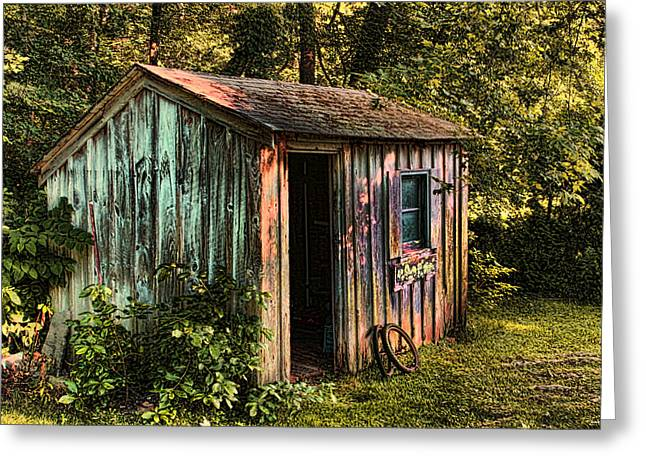 Shed Greeting Cards -  Shed Greeting Card by Tom Prendergast