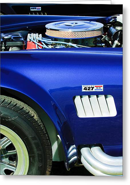 Shelby Greeting Cards -  Shelby Cobra 427 Engine Greeting Card by Jill Reger