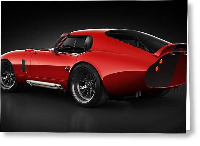 Stylish Car Greeting Cards -  Shelby Daytona - Red Streak Greeting Card by Marc Orphanos