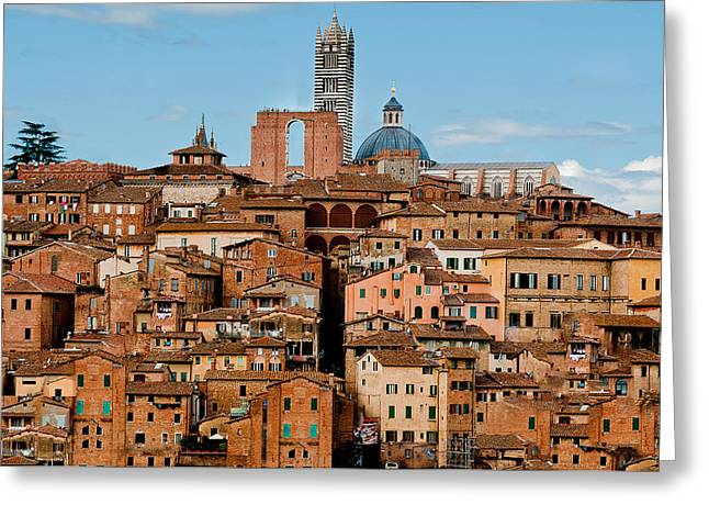 Siena Italy Greeting Cards -  Siena Italy Greeting Card by Xavier Cardell
