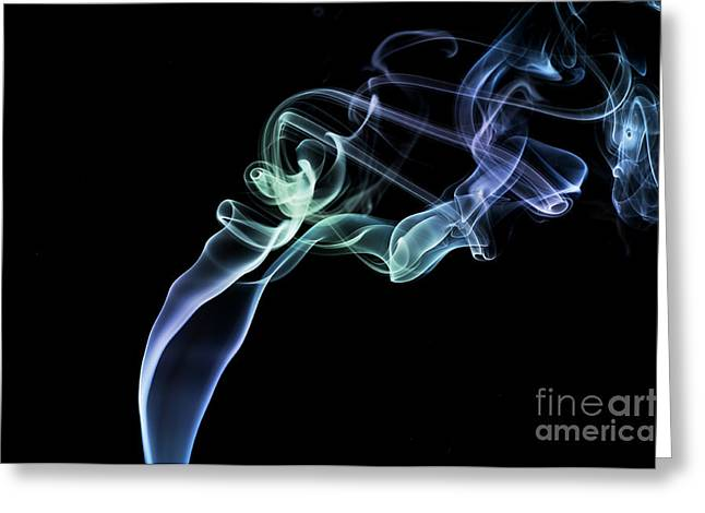 Smoking Trail Greeting Cards -  Smokey 4 Greeting Card by Steve Purnell