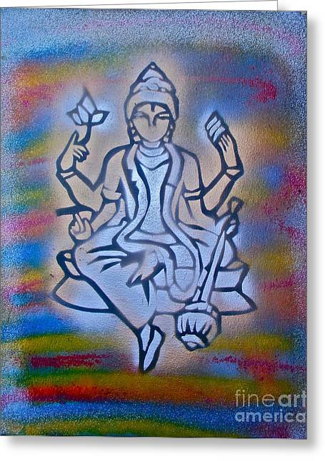 Metaphysics Greeting Cards -  So Shiva 1 Greeting Card by Tony B Conscious