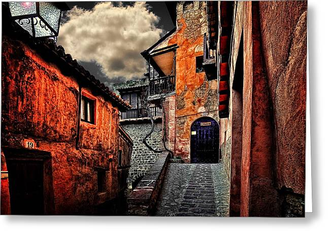 Architecture Digital Art Greeting Cards -  Spanish Architecture Design10 Greeting Card by Sheila Savage