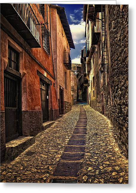 Architecture Digital Greeting Cards -  Spanish Architecture Design4 Greeting Card by Sheila Savage