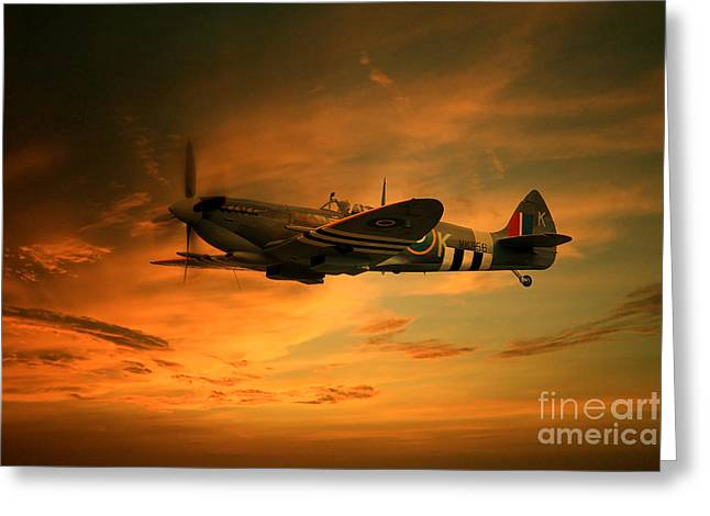 Spitfire Greeting Cards -  Spitfire Glory Greeting Card by J Biggadike