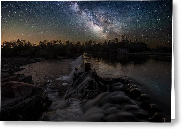 Milky Greeting Cards -  Split Rock Dreamscape Greeting Card by Aaron J Groen