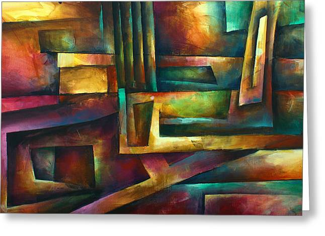 Rectangles Greeting Cards -  Stairway to Oblivion Greeting Card by Michael Lang