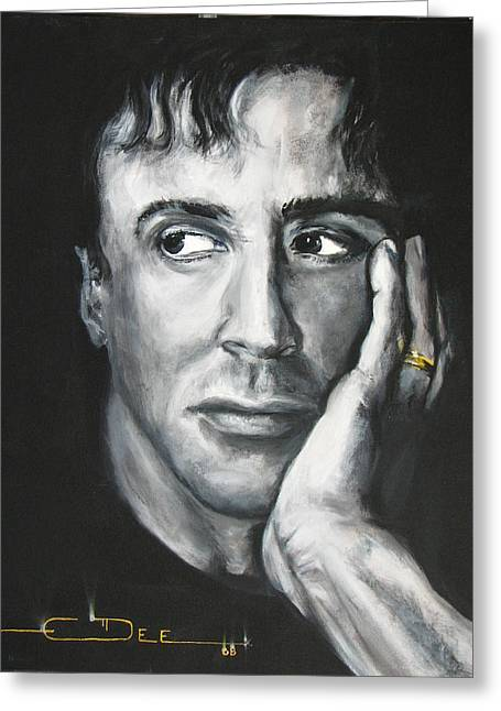 Sylvester Stallone Greeting Card by Eric Dee