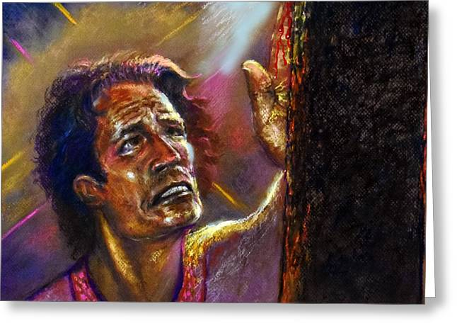 Jesus Pastels Greeting Cards -  Take Me To the Cross Greeting Card by Tommy Winn