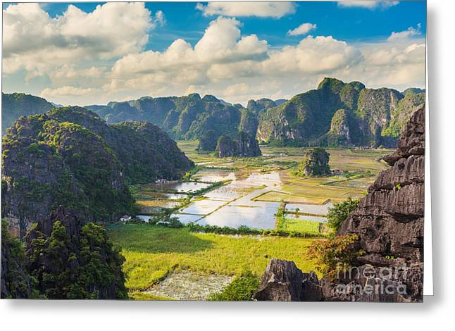 Binh Greeting Cards -  Tam coc national park Greeting Card by MotHaiBaPhoto Prints