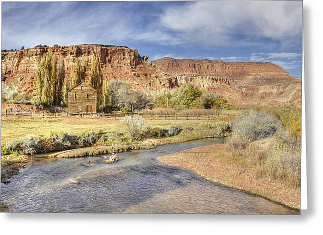 Photographs With Red. Greeting Cards -  Teasdale UT Greeting Card by Wendy Elliott