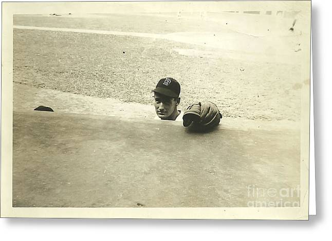 Ted Williams Greeting Card by Diane Diederich
