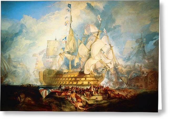 Battle Of Trafalgar Greeting Cards -  The Battle of Trafalgar Greeting Card by Celestial Images