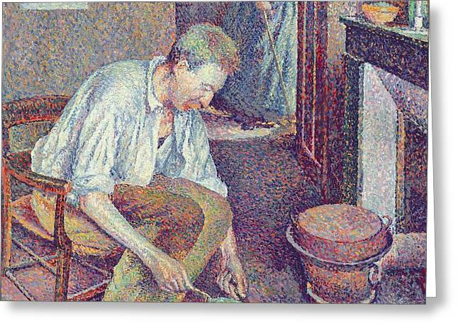 The Coffee Greeting Card by Maximilien Luce
