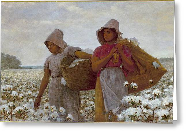 The Cotton Pickers Greeting Cards -  The Cotton Pickers Greeting Card by Celestial Images