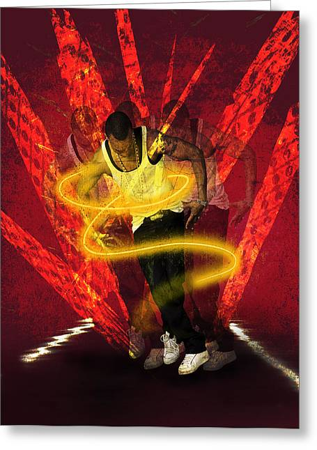 Break Dance Greeting Cards -  The Dance Greeting Card by Barbara  White