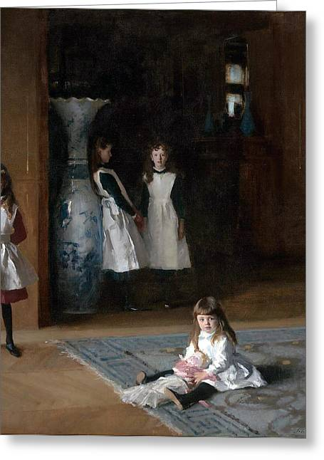 Edwardian Greeting Cards -  The Daughters of Edward Darley Boit Greeting Card by John Singer Sargent