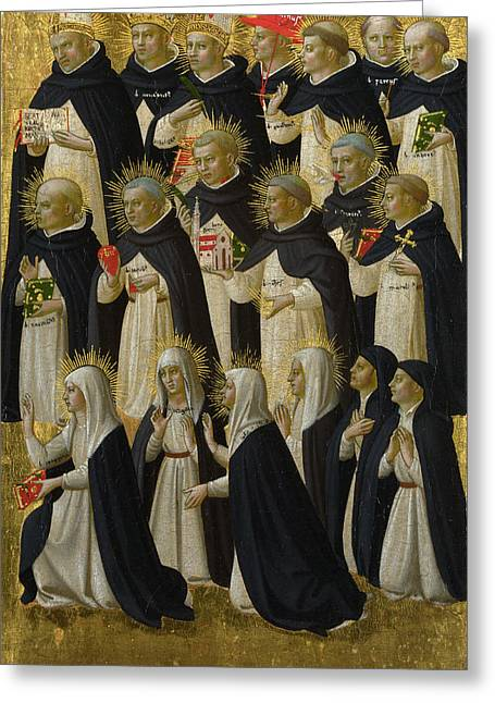 Fra Greeting Cards -  The Dominican Blessed Greeting Card by Fra Angelico