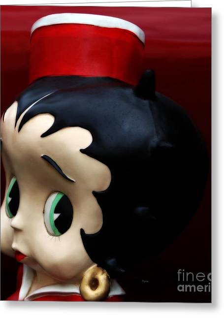 Betty Boop Greeting Cards -  The Eminent and Beautiful - The Sassy Ms. Betty Boop Greeting Card by Steven  Digman