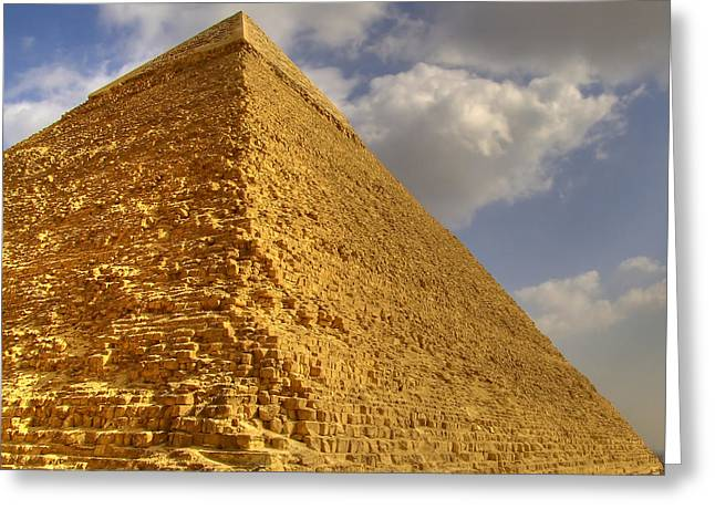 The Mummy Greeting Cards -  The Great Pyramid Greeting Card by Antony McAulay