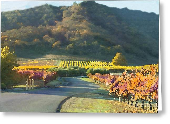 Clos La Chance Winery Greeting Cards -  The Hills of Clos La Chance Winery Greeting Card by Artist and Photographer Laura Wrede