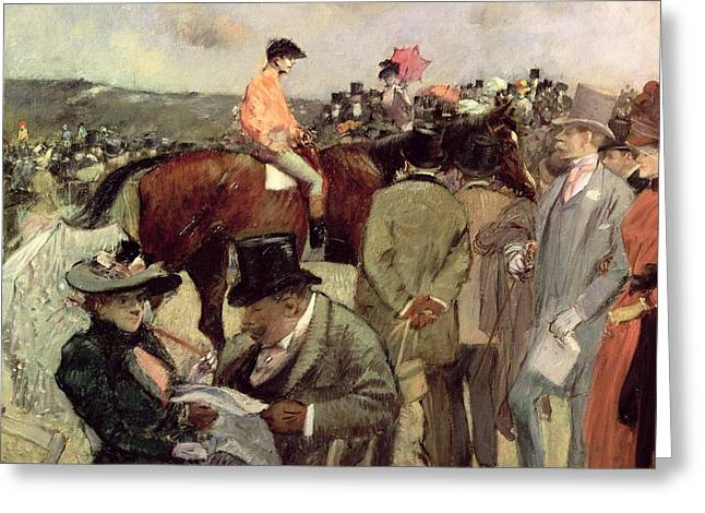 Jockeys Greeting Cards -  The Horse Race Greeting Card by Jean Louis Forain