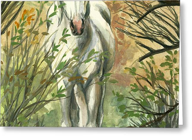 The Look Out Greeting Card by Linda L Martin
