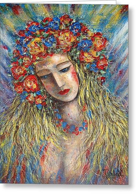 The Loving Angel Greeting Card by Natalie Holland