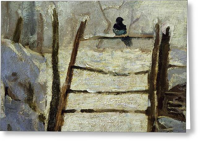 The Magpie Greeting Card by Claude Monet