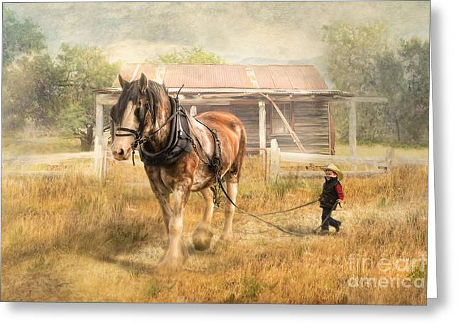Quarter Horse Digital Art Greeting Cards -  The Next Generation Greeting Card by Trudi Simmonds