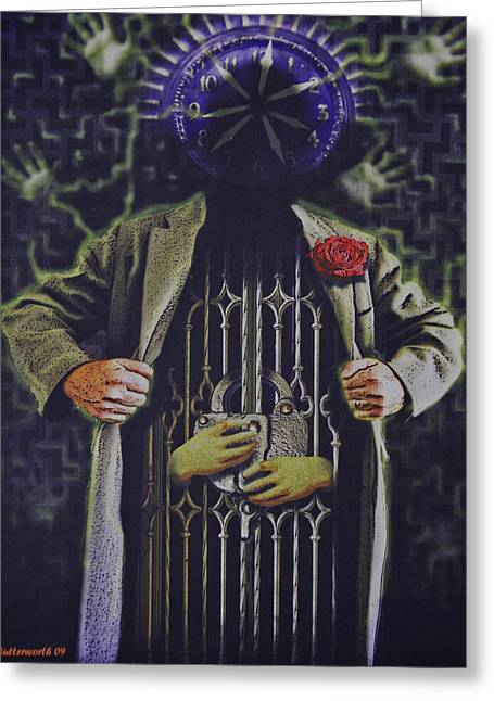 Exhibitionist Greeting Cards -  The Prisoner Of Time Greeting Card by Larry Butterworth