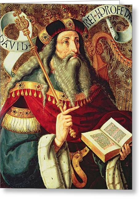 Old Testament Greeting Cards -  The Prophet David Greeting Card by Master of Riofrio