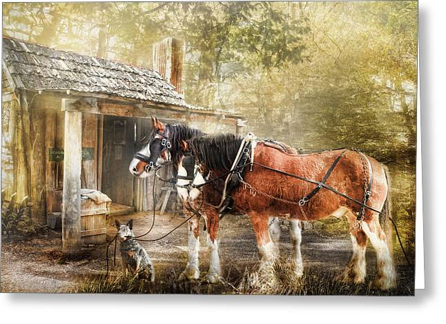 Heeler Greeting Cards -  The Replacements Greeting Card by Trudi Simmonds