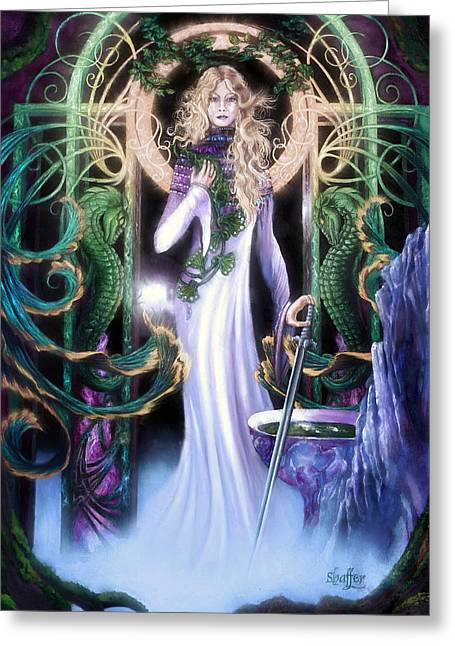 Queen Of Heaven Greeting Cards -  The Return of Ithwenor 2 Greeting Card by Curtiss Shaffer