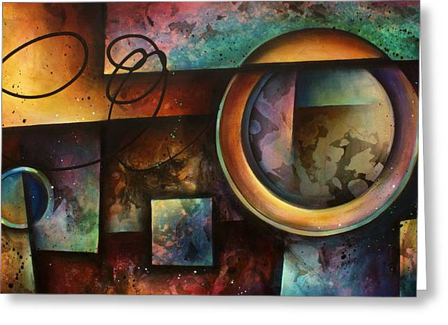 Abstract Geometric Greeting Cards -  The RIFT  Greeting Card by Michael Lang