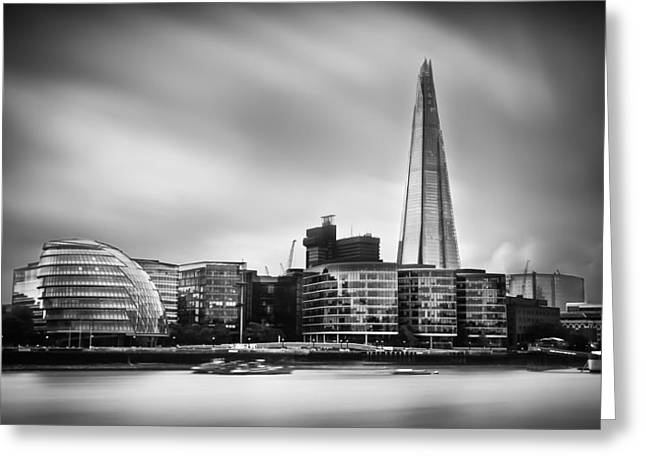 Belfast Greeting Cards -  The Shard and City Hall London Greeting Card by Ian Hufton