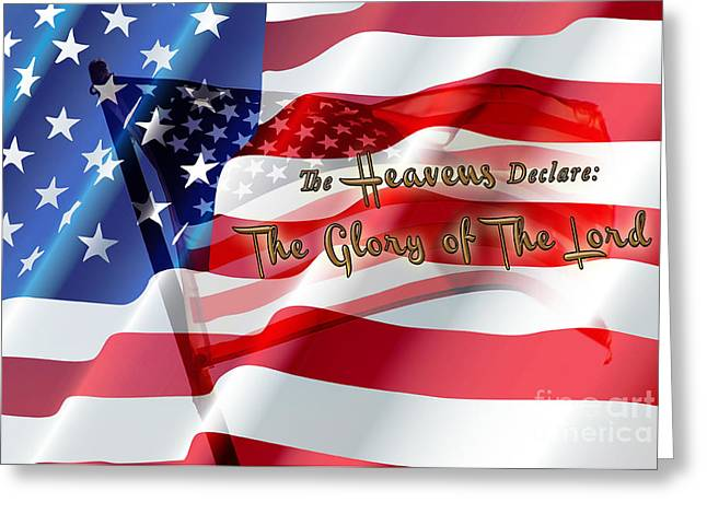 Old Glory Mixed Media Greeting Cards -  The Stars and Stripes Greeting Card by Beverly Guilliams