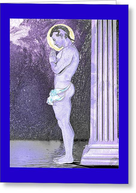 Freethinker Greeting Cards - Submissive faithful  Greeting Card by Joaquin Abella