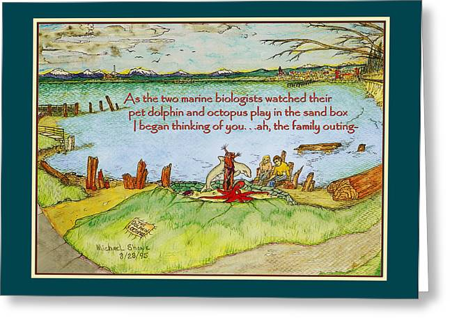 Thinking Of You By Octopus Bay Park Greeting Card by Michael Shone SR