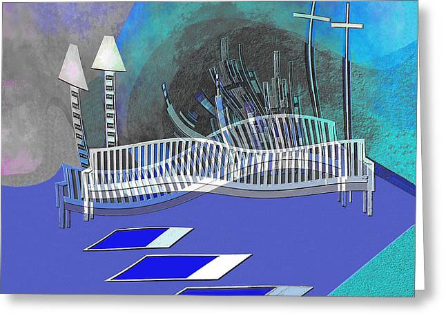 Vertigo Digital Art Greeting Cards -  This Earthquake Feeling - 112 Greeting Card by Irmgard Schoendorf Welch