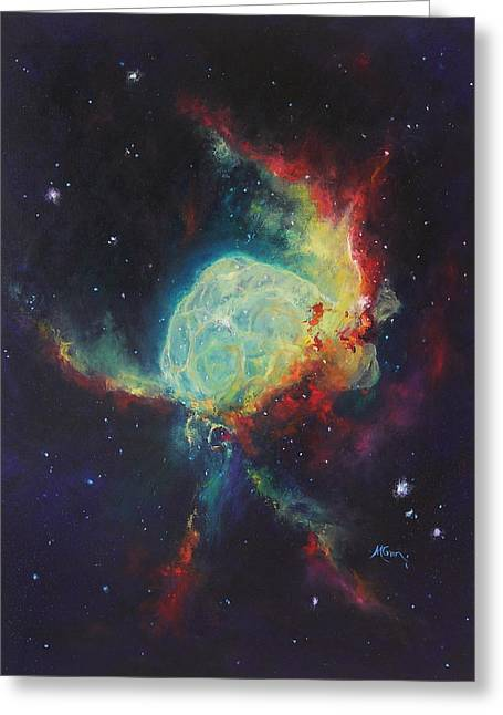Thor's Helmet Ngc 2359 Greeting Card by Marie Green