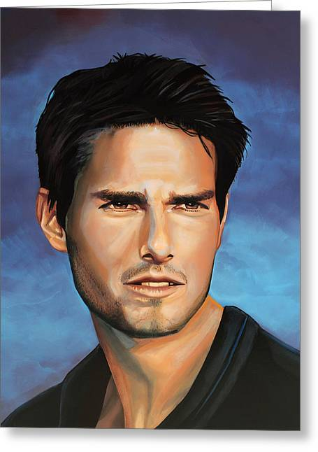 Killed Greeting Cards -  Tom Cruise Greeting Card by Paul Meijering