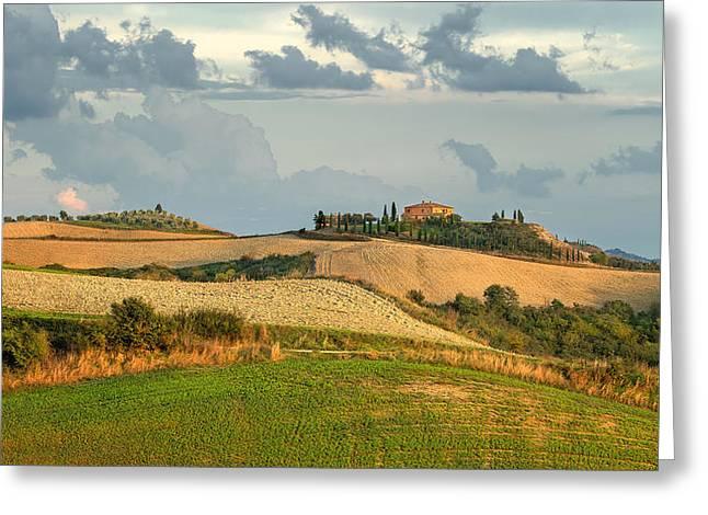 Italian Sunset Greeting Cards -  Toscana - Italy Greeting Card by Jan Sieminski